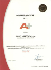 Certifikati 2017 CompanyWall